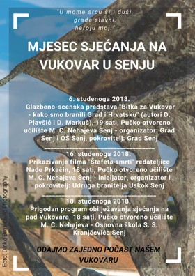 Mjesec sjećanja na Vukovar u Senju